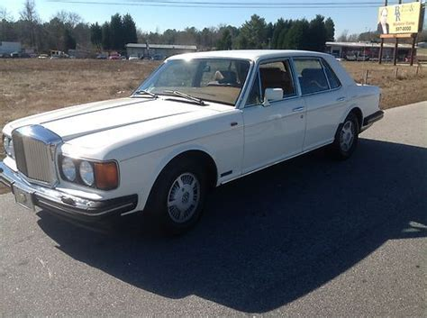 bentley mulsanne white find used 1989 bentley mulsanne s white with brown