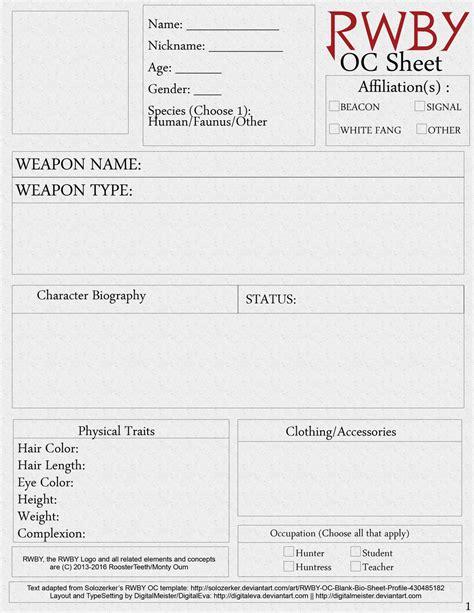 oc bio template rwby oc character sheet printable page 1 by digitalmeister on deviantart