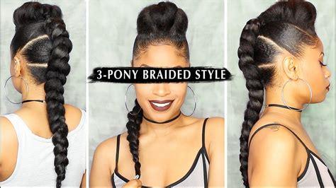 Dope 3-pony Braided Style 🔥