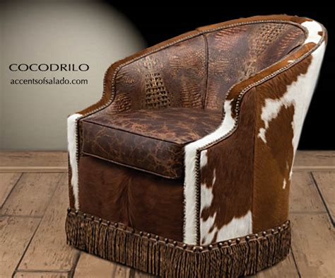 Cowhide Furniture Wholesale by Western Leather Cowhide Chairs With Crocodile