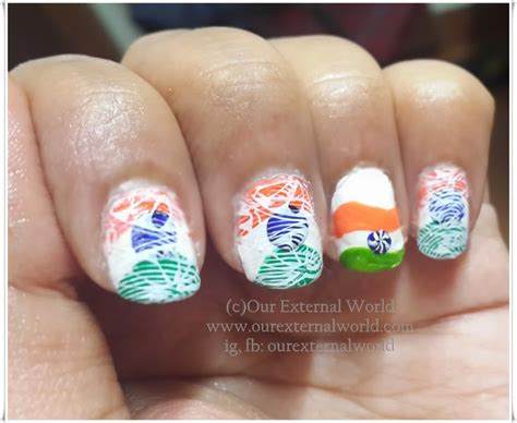 Indian Tricolor Nail Art- Celebrate The Colors Of Freedom