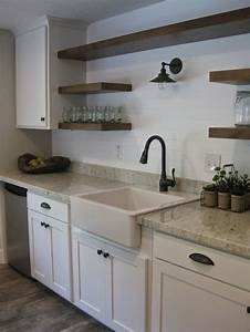 best 25 open shelving ideas on pinterest interiors With kitchen cabinets lowes with exhibit stickers