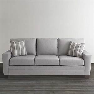 gray plaid upholstered sleeper sofa With bassett sofa bed