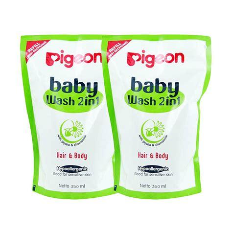 pigeon paket hemat jual paket hemat pigeon baby wash chamomile isi 2 350