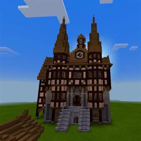 medieval germanic town hall minecraft city minecraft medieval house minecraft blueprints
