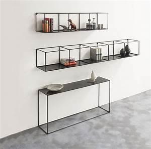 Ikea Konsole Regal : etag re slim irony l 124 cm noir cuivr zeus ~ Markanthonyermac.com Haus und Dekorationen