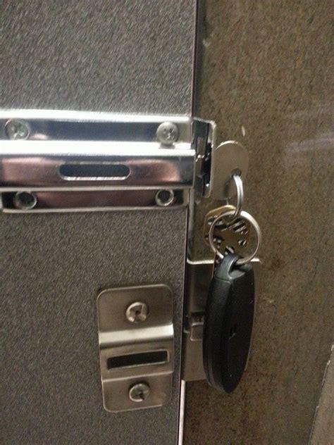 bathroom stall lock broken fixed lifehacks