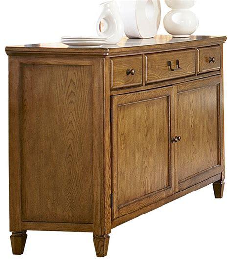 American Drew Sideboard by American Drew Americana Home Buffet In Warm Oak
