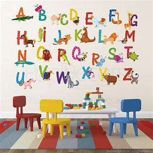 nursery abc alphabet wall stickers children playroom wall With nice wall letter decals for nursery