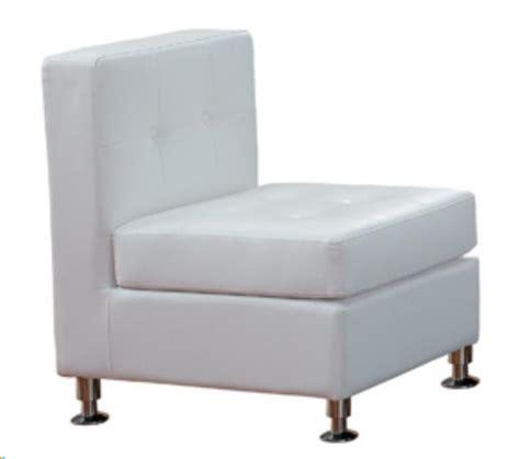 white leather tufted armless chair rentals atlanta ga