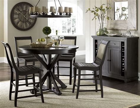 Black Dining Room Sets by Willow Distressed Black Counter Dining Room Set