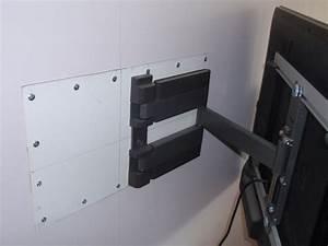 Fixer Tv Au Mur Sans Voir Les Fils : support tv sur mur placo bois ou scellement chimique parpaing 13 messages ~ Preciouscoupons.com Idées de Décoration
