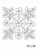 Hawaiian Quilt Stencil Patterns Applique sketch template