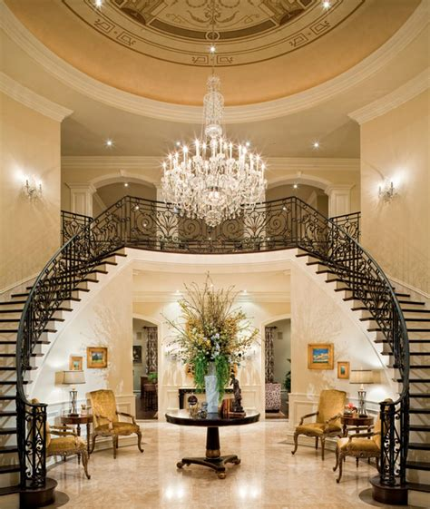 Grand Foyer by A Look At Some Grand Foyers From Houzz Homes Of The Rich