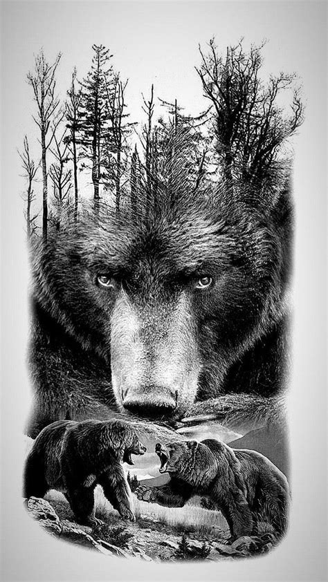 Pin by Stormhart on Tattoos | Grizzly bear tattoos, Bear