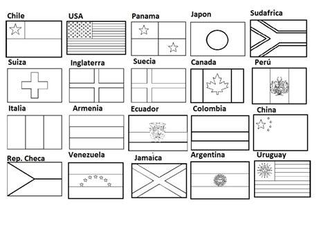 Fantástico Páginas Para Colorear De Banderas De Todo El Mundo Molde ...