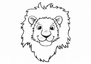 Free lion head coloring pages