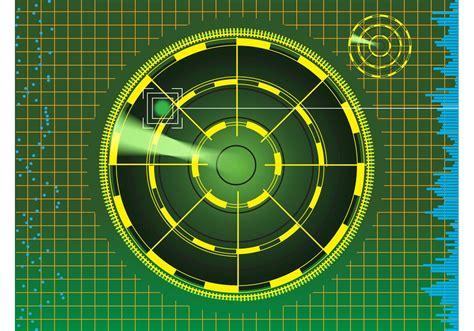radar background   vector art stock