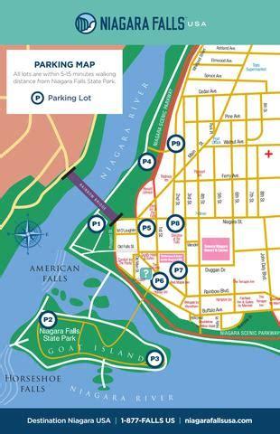 downtown niagara falls usa parking map  destination