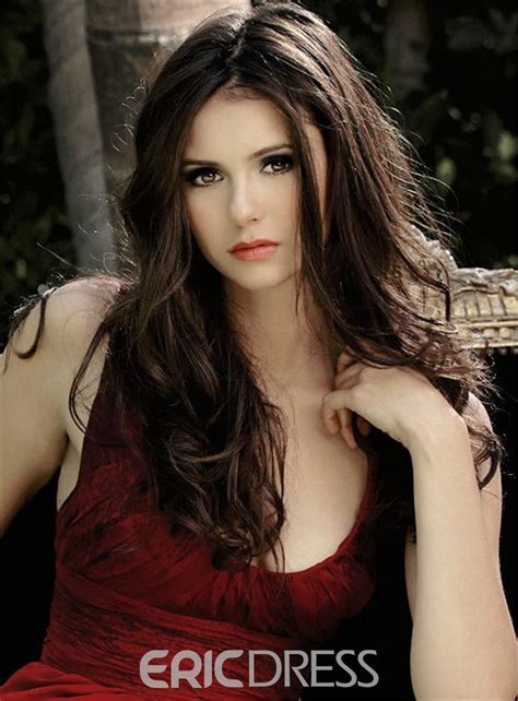 ericdress nina dobrev long wavy middle part hairstyle lace