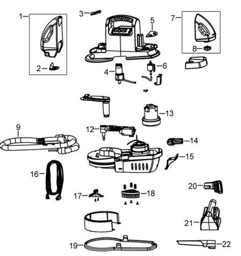 Wiring Diagram For Bissell Vacuum Cleaner by Bissell 1200 7887 Spotbot Portable Cleaner Parts