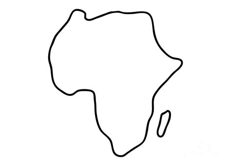 africa african continent map drawing  lineamentum