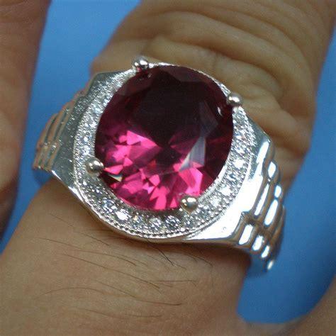 cincin batu merah ruby web batu permata 13mm ruby cz silver ring c end 6 10 2018 1 pm
