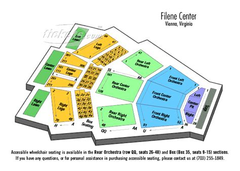 filene center seating chart wolf trap wolf trap seating chart brokeasshome 49105