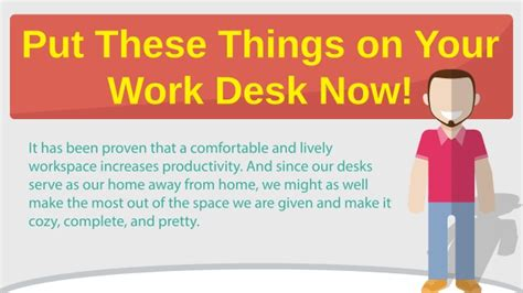 things for your desk at work put these things on your work desk now