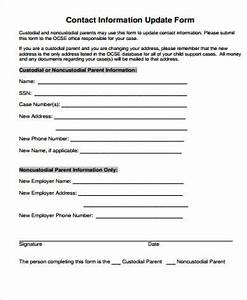 sample contact information form 12 examples in word pdf With update contact information form template