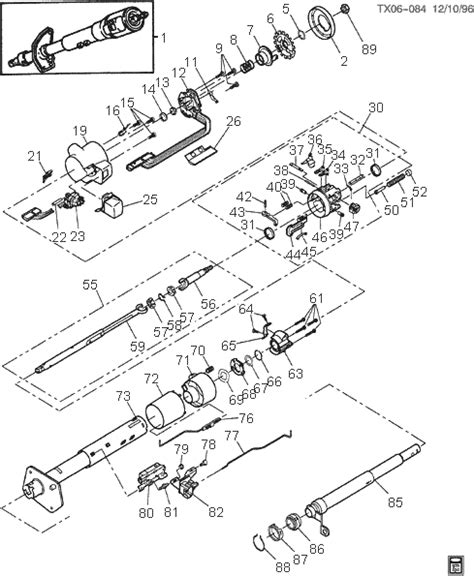 Gm Steering Column Diagram by Gm Parts Diagrams Exploded Views Automotive Parts