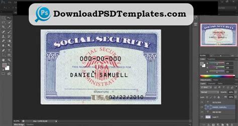 social security card template ssn editable psd software