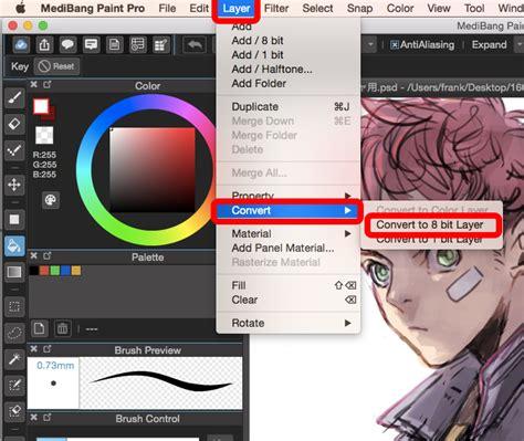 convert layers  halftone  medibang paint pro