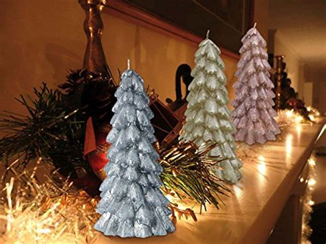 christmas tree table decoration christmas trees candles ornaments 3 pack 8 quot table 5039