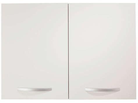 meuble haut cuisine 80 cm meuble haut 80 cm 2 portes spoon coloris blanc vente de