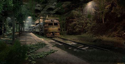 Post Apocalyptic Wallpapers 1920x1080 Train Apocalyptic Sci Fi Dark Wallpaper 2486x1285 356878 Wallpaperup