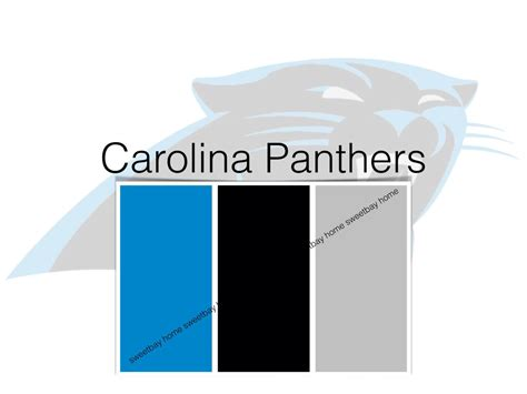 panthers color interior paint palette color card carolina panthers by