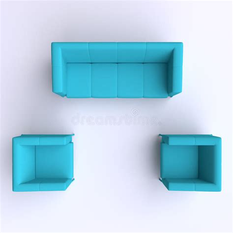 sofa vector top view sofa and two chairs top view stock illustration