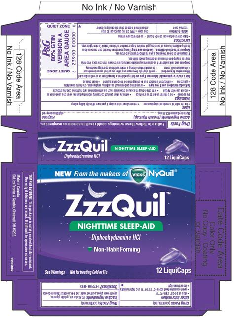 zzzquil sleep aid nighttime nyquil liquicaps drug facts non habit forming bodybuilding ingredients active otc capsule tagsale diphenhydramine benedryl taking