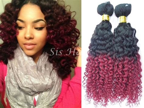Ombre Hair Extensions Brazilian Remy Hair Deep Curly T1b