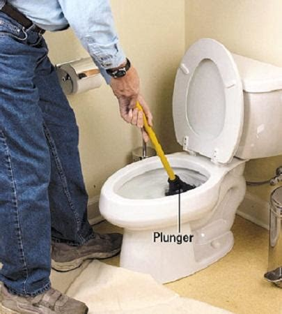 Bathroom  How To Fix A Clogged Toilet Toilet Drain