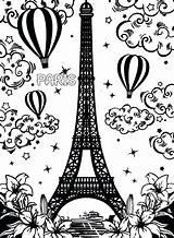 Eiffel Tower Coloring Paris Pages Printable Drawing France Easy Getdrawings Drawings Getcolorings Incredible Goldendoodle Pencil Colorings sketch template
