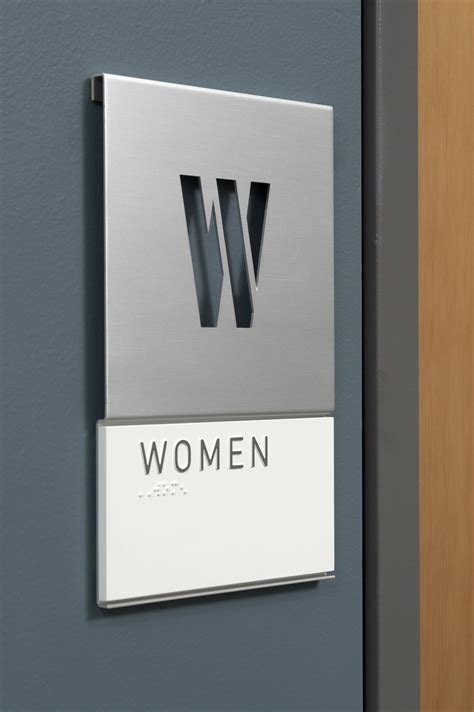 simple sleek  clean signage environmental design