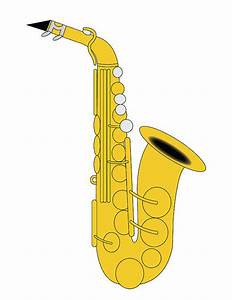 Saxophone Clip Art/ Alto Saxophone Illustration/ Saxophone ...