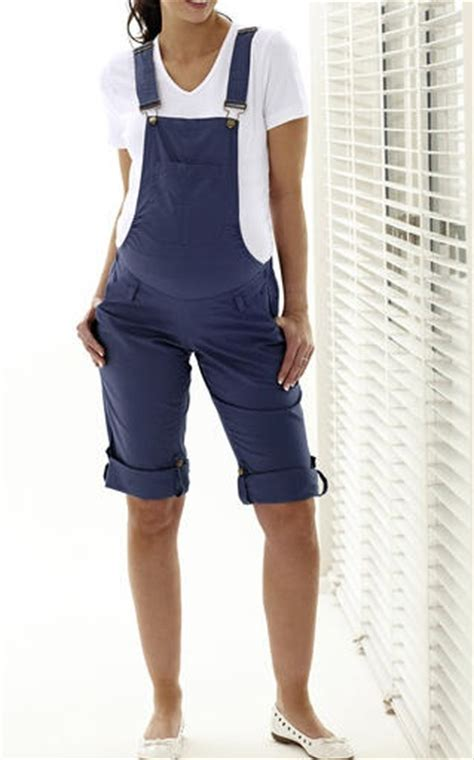 latzhose blau damen latzhose umstandsmose hose gr 46 damen bermuda shorts indigo blau neu ebay