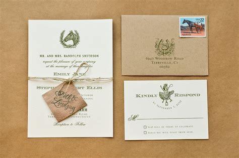 diy rubber st equestrian wedding invitations