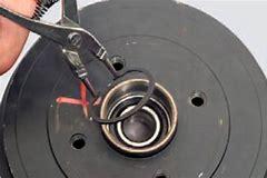 как снять подшипник на вентеляторе печки ваз2110