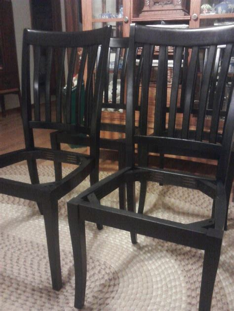 kitchen table and chair refinishing my chairs and dining room table with rustoleum
