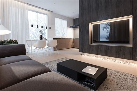 living room l a minimalist family home with a bright bedroom for the