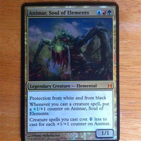 Magic Commander Animar Deck by Animar Soul Of Elements Collected In Mtg Commander